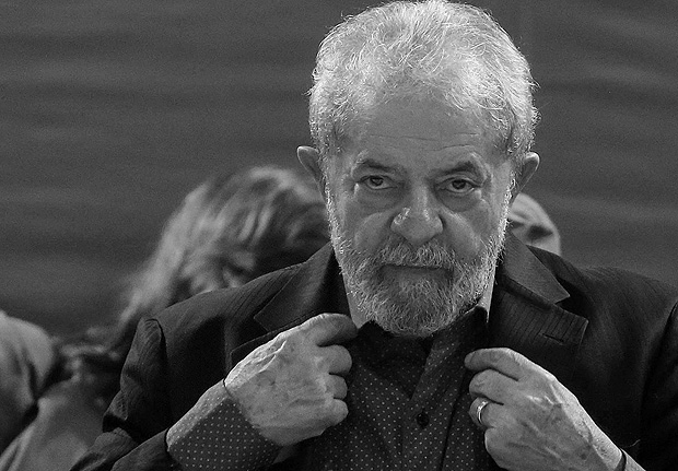 (170712) -- SAO PAULO (BRAZIL), July 12, 2017 (Xinhua) -- File photo taken on May 5, 2017 shows Luiz Inacio Lula da Silva attending the Workers Party's Congress opening ceremony in Sao Paulo, Brazil. Former President of Brazil, Luiz Inacio Lula da Silva, was sentenced to nine years and six months in prison for his involvement in the plot corruption that diverted thousands of millions of U.S. dollars from the state oil company Petrobras, official sources said on July 12, 2017. (Xinhua/Rahel Patrasso)