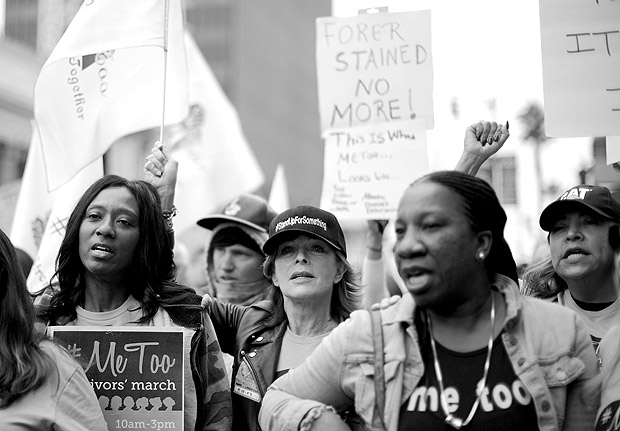 People participate in a protest march for survivors of sexual assault and their supporters in Hollywood, Los Angeles, California U.S. November 12, 2017. REUTERS/Lucy Nicholson ORG XMIT: FFF-LUC29