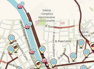 Tr�nsito no local do protesto est� tranquilo; confira a situa��o das vias no mapa do Waze
