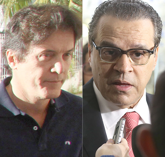 O candidato do PDT Robinson Faria e Henrique Eduardo Alves, do PMDB, que disputam o segundo turno