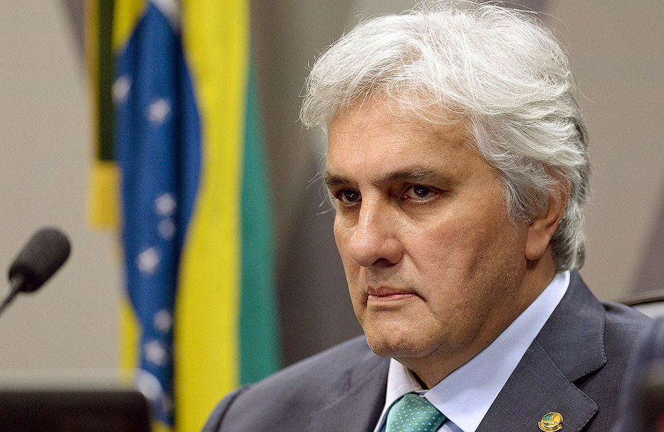 Brazilian Senator Delcidio do Amaral, linked to the Petrobras corruption scandal, attends a session of the Constitution and Justice Commission (CCJ) at the Brazilian Congress in Brasilia on May 9, 2016. Do Amaral led the Workers' Party in the upper house until last November when he became the first sitting senator to be arrested. Amaral has started testifying himself, becoming the government's star witness in a plea bargain that has seen him point fingers at dozens of former colleagues, including Brazilian President Dilma Rousseff, whom prosecutors are now probing for obstruction of justice / AFP PHOTO / ANDRESSA ANHOLETE