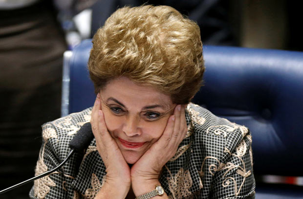 Brazil's suspended President Dilma Rousseff attends the final session of debate and voting on her impeachment trial in Brasilia, Brazil, August 29, 2016. REUTERS/Ueslei Marcelino TPX IMAGES OF THE DAY ORG XMIT: BRA131