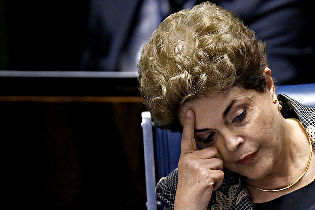 Brazil's suspended President Dilma Rousseff attends the final session of debate and voting on Rousseff's impeachment trial in Brasilia, August 29, 2016
