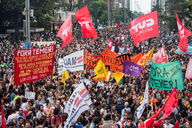 Temer said the protests were small events with 40, 50, 100 people in attendance.
