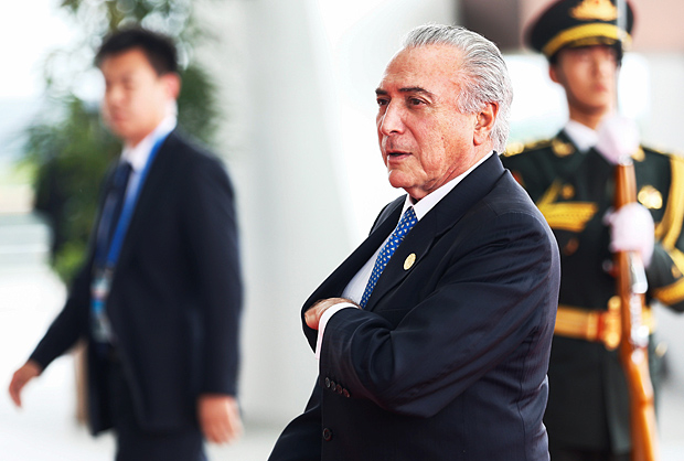 Brazilian President Michel Temer arrives arrives to attend the G20 Summit in Hangzhou, Zhejiang province, China, September 4, 2016. REUTERS/Rolex dela Pena/Pool ORG XMIT: PEK93