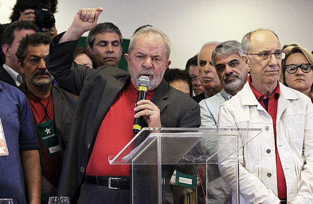 Brazil's former President Luiz Inacio Lula da Silva talks to the journalists during a press conference in Sao Paulo, Brazil, September 15, 2016. REUTERS/Fernando Donasci FOR EDITORIAL USE ONLY. NO RESALES. NO ARCHIVES. ORG XMIT: NAC09
