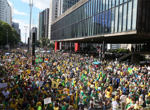 Demonstrators Protest Against Corruption in Brazil