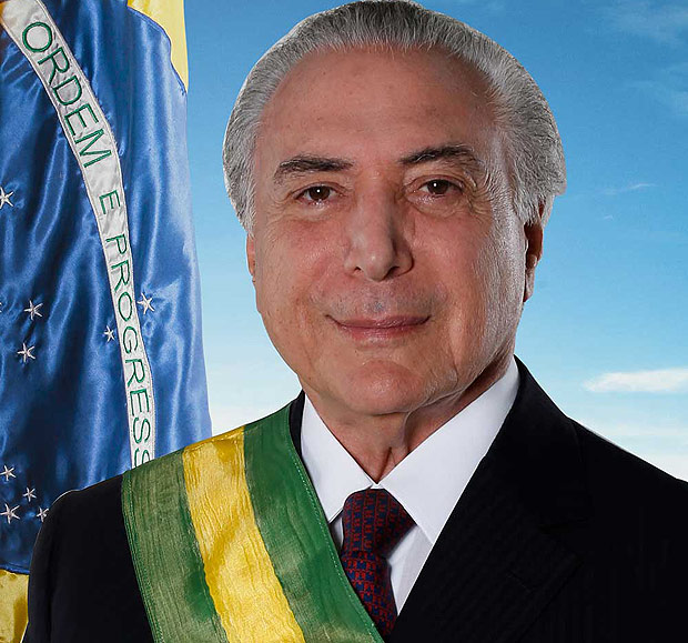 Retrato oficial do presidente Michel Temer
