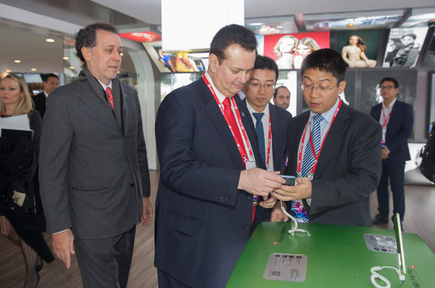 27.02.2017visita do ministro Gilberto Kassab ao GSMA Mobile World Congress.Foto:Ascom/MCTIC