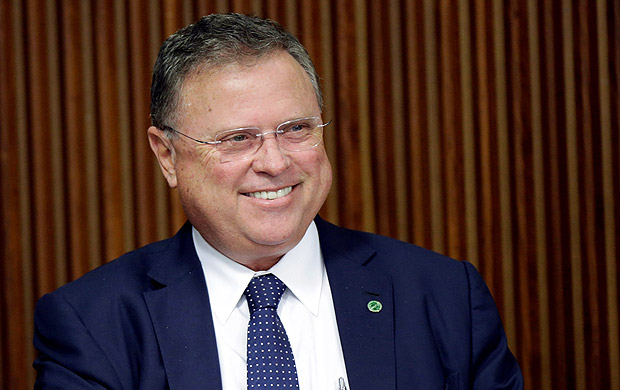 Brazil's Agriculture Minister Blairo Maggi smiles during a meeting with Brazil's President Michel Temer and ambassadors of meat importing countries of Brazil at the Planalto Palace in Brasilia, Brazil March 19, 2017. REUTERS/Ueslei Marcelino ORG XMIT: UMS31