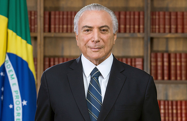Foto oficial do presidente Michel Temer