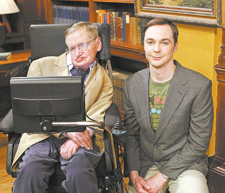 "Stephen Hawking e Jim Parsons gravam episódio de ""Big Bang Theory"""