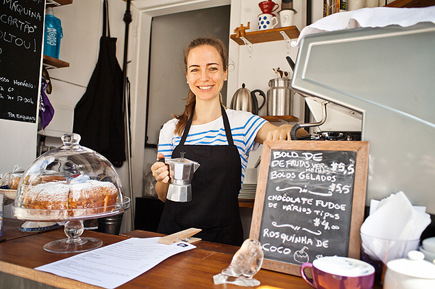Flavia Pogliani é a dona do The Little Coffee Shop, em Pinheiros