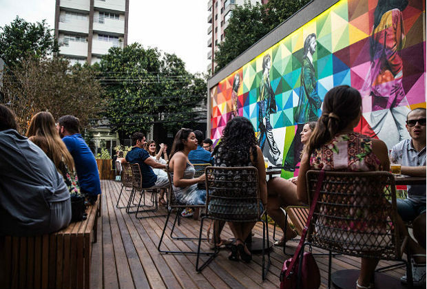 Ambiente do High Line, na Vila Madalena