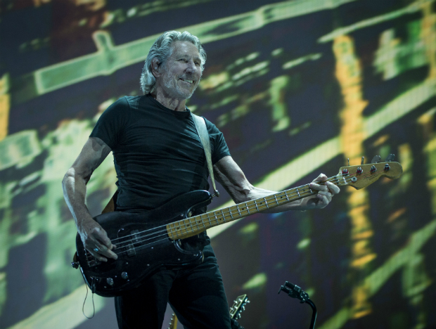 Roger Waters performs during the Roger Waters - Us + Them concert at the Sprint Center on Friday, May 26, 2017, in Kansas City, Mo. (Shane Keyser/The Kansas City Star via AP) ORG XMIT: MOKAS502