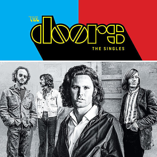 "Capa do disco ""Singles"", da banda The Doors"