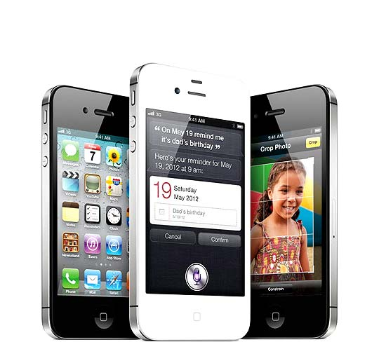 Versão mais recente do smartphone da Apple, o iPhone 4S