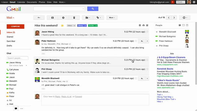 O suposto novo design do Gmail