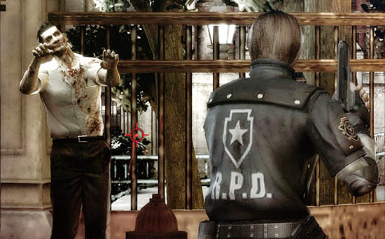 Cena do game Resident Evil: The Darkside Chronicles, para Wii
