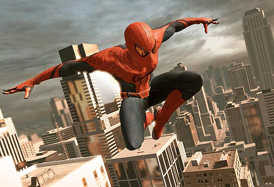 "Cena do jogo ""The Amazing Spider-Man"""