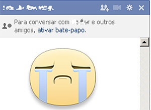 "Ícone de ""figurinha"" no bate-papo do Facebook"