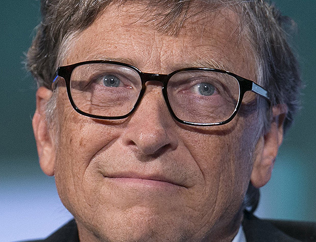 O fundador da Microsoft, Bill Gates, durante a Clinton Global Initiative 2013, em Nova York