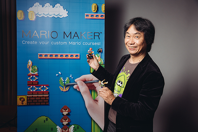 "FILE - In this Friday, Dec. 12, 2014 file photo, Shigeru Miyamoto poses for a portrait during an interview with Associated Press at the Montage Hotel in Beverly Hills, Calif. After three decades of releasing ""Super Mario"" video games, the Japanese gaming giant Nintendo is inviting players to create their own levels in the bouncy plumber's homeland with the user-generated Wii U title ""Super Mario Maker,"" out Friday, Sept. 11, 2015. ""I thought after 30 years, it would be perfect to reward creative players with the ability to build their own levels and be able to engage in the type of communication where a player and a creator can share the results,"" said ""Super Mario"" creator Miyamoto during an interview in June 2015. (Photo by Casey Curry/Invision/AP) ORG XMIT: CAET230"
