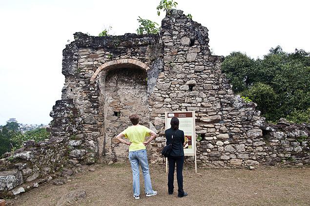 Las ruinas de Abarebebe, uno de los atractivos turisticos de la ruta de los extraterrestres en Peruibe