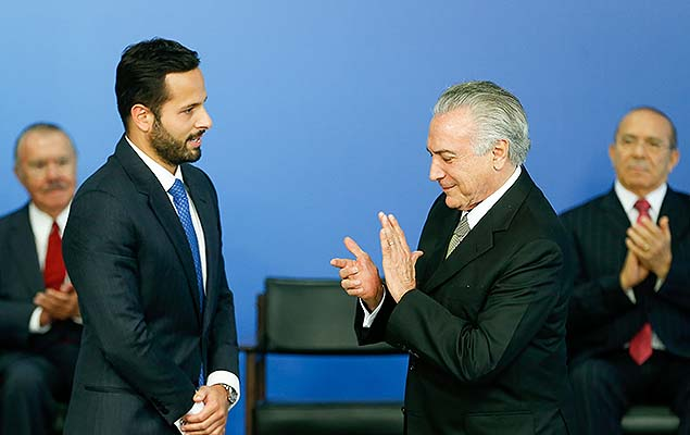Presidente interino Michel Temer na posse de Calero, no Pal�cio do Planalto, em Bras�lia (DF)