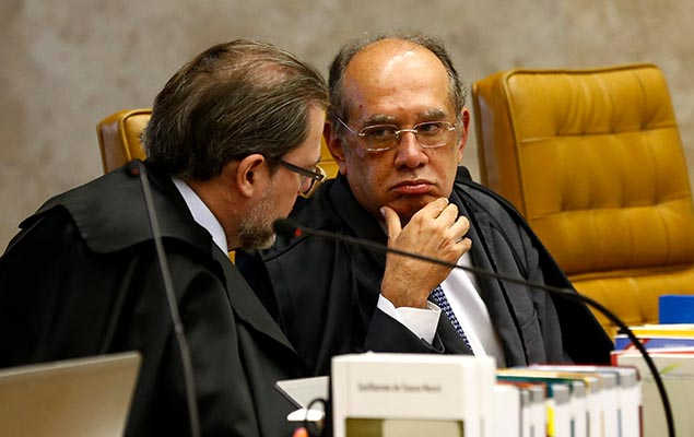 Supreme Court justices Dias Toffoli and Gilmar Mendes