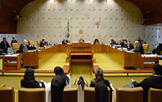 O plen�rio do Supremo Tribunal Federal