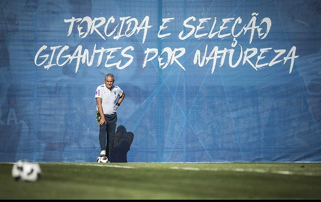 Brazilian Coach Tite, at the Yug-Sport Stadium, in Sochi, Russia