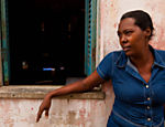 Maria Belinha Paci�ncia, 47, former resident of Porto de Brotas; she is unemployed and says that to work in the city, you need political connections