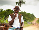 Alo�sio dos Santos, 49, is a cowboy on a ranch near Porto de Brotas