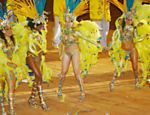 Members of Rio de Janeiro samba school Unidos da Tijuca performs at the Festa do Peo