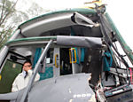 Bus is destroyed in accident in the Imigrantes Highway; road is still closed after major pile-up