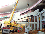 Obras do futuro est�dio do Inter-RS