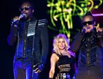 Show do grupo Black Eyed Peas no palco Energia