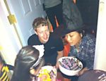 Mark Zuckerberg e Priscilla no Halloween