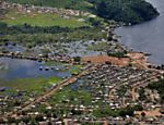 A view of the Invasao dos Padres neighborhood, located near the Belo Monte Dam project, in the Brazilian city of Altamira. Belo Monte is a controversial hydropower plant that is being built in the Xingu River, one of the largest rivers in the Amazon basin