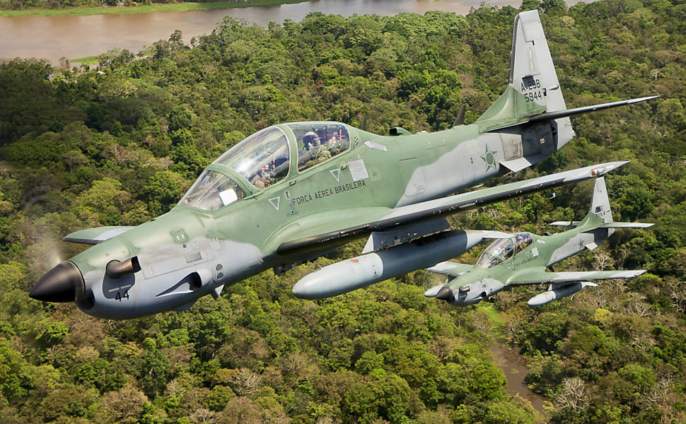 The Brazilian Air Force attacked a clandestine runway deep in the Amazon near the border with Venezuela on Saturday 12 May 2012