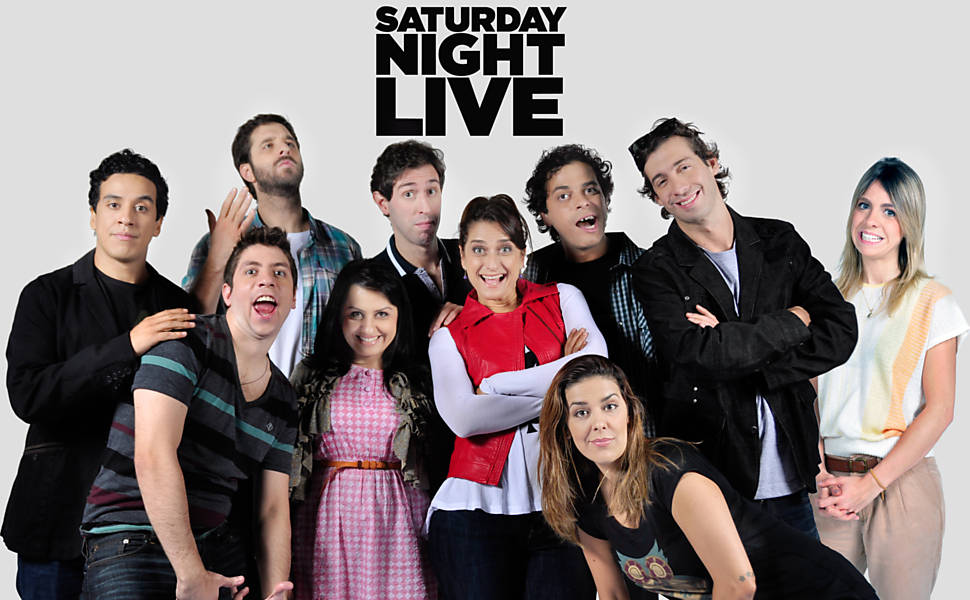 "Rafinha Bastos e o elenco da vers�o brasileira do ""Saturday Night Live"""
