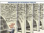 Charge do dia 23 de agosto de 2005 sobre corrup��o no governo Lula