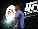 Dana White, presidente do UFC (Ultimate Fighting Championship), durante apresenta��o do game da Electronic Arts baseado no torneio de luta