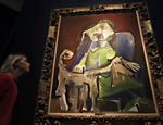 Pintura feita por Pablo Picasso, chamada 'Femme au Chien', vai a leilo; o quadro representa a segunda mulher do artista 