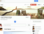 Tela do Events, novo recurso do Google+, rede social do Google