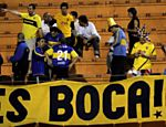 Torcedores  do Boca Juniors antes da final da Libertadores no Pacaembu, So Paulo Saiba mais sobre a partida