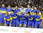 Jogadores do Boca Juniors posam para foto antes da partida Saiba mais sobre a partida