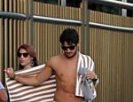 Alexandre Pato e Barbara Berlusconi flagrados na sada da praia de Ipanema, Rio de Janeiro
