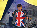 Justin Bieber durante show no Capital FM's Summertime Ball no est�dio de Wembley, em Londres Leia mais
